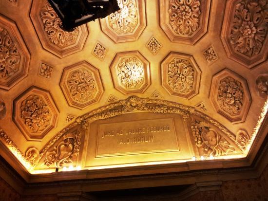 Palazzo Marino: dettaglio del soffitto