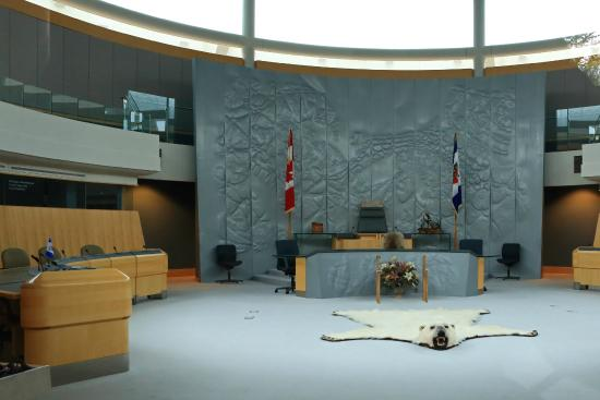 The Legislative Assembly Building: You can just see the meeting hall outside the glass, NOT WORTH VISITING