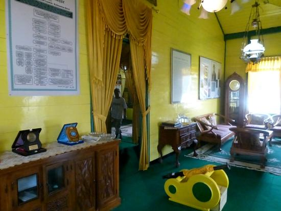 West Kalimantan, Indonesia: Front room of museum