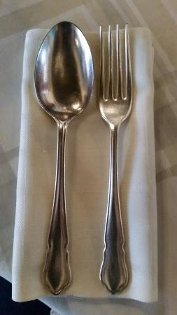 Eight Bells Mountain Inn: Eat with pure Sheffield Silver...