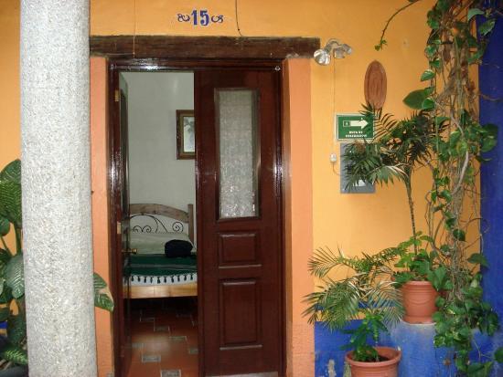 Entrada dos quartos