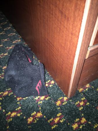 Embassy Suites by Hilton Detroit - Livonia/Novi: Someone else's dirty sock in my room at check in
