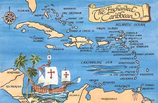 La Roca Restaurant Caribbean Grill: Mapa del caribe
