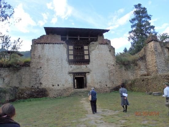 Drukgyel Dzong : Ruins of a structure inside the Dzong