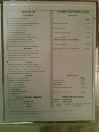 Hotel Spa Attica 21 Villalba: Menú