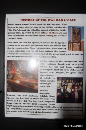 Owl Bar Cafe & Steakhouse: Owl Bar and Cafe history