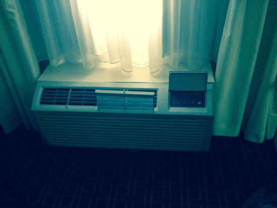 Charleston Capitol Hotel: Dirty heater