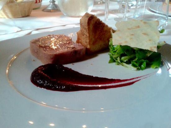 Ristorante San Michele: Foie gras con pane tostato fatto in casa