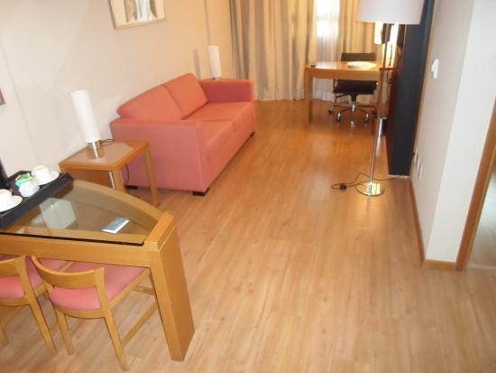 Brasil 21 Suites : quarto que fiquei hospedado no 12º andar