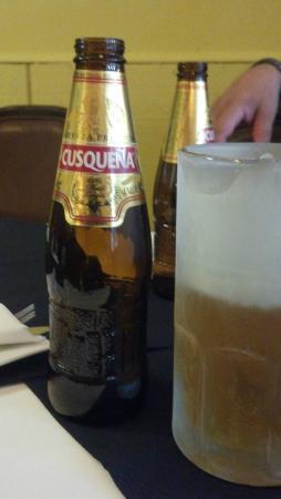 Peruvian Grill: Ice cold Cerveza