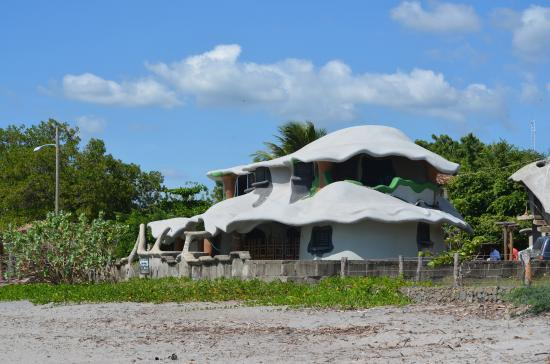 Melting Elefante: house seen from the beach