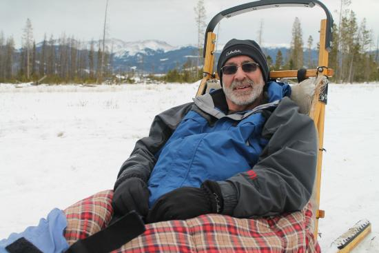 Dog Sled Rides of Winter Park: Don't I look comfy?