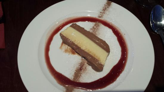 a room in the west end and Teuchters bar: Baileys chocolate terrine