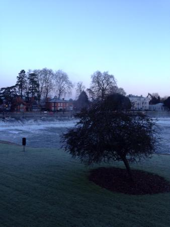 Macdonald Compleat Angler: Lovely morning view of the weir from bedroom balcony