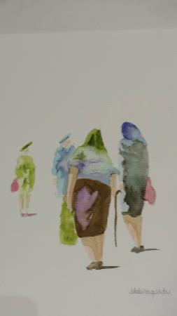 Art Studio di Adelina Quadri : Can't you just see the li'l old ladies greeting one another on their way to market?