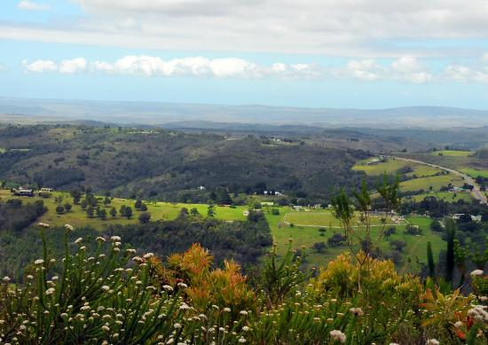 Eight Bells Mountain Inn: The Inn & Paddock from the top of the hill