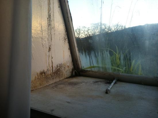 Redcar Hotel: Bathroom window