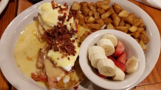 Old West Cafe: One of their eggs Benedict choices.