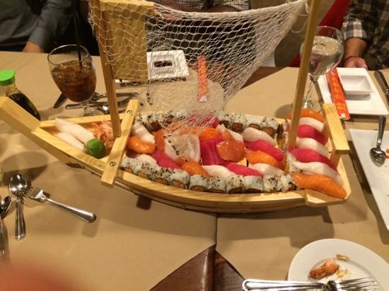Steak & Main: the Sushi boat