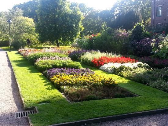 Botanical Gardens (Botaniska Tradgarden): Rabatt med sommarblommor
