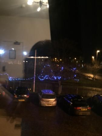 Park Hotel: xmas lights from the windows