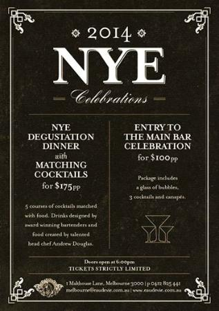 Eau De Vie: NYE Celebrations