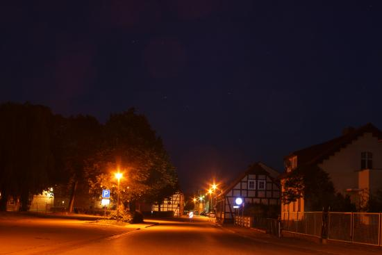 Hotel & Restaurant Muehlenhof: Blick auf die Vierrade-Mühle-Hotel Mühlenhof bei Nacht