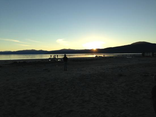 Kings Beach State Recreation Area: sunset on Lake Tahoe