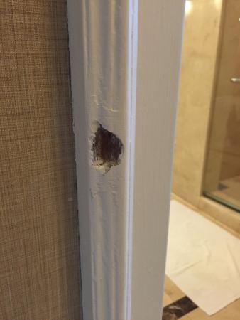 The Ritz-Carlton, Kuala Lumpur: The hole in the door frame
