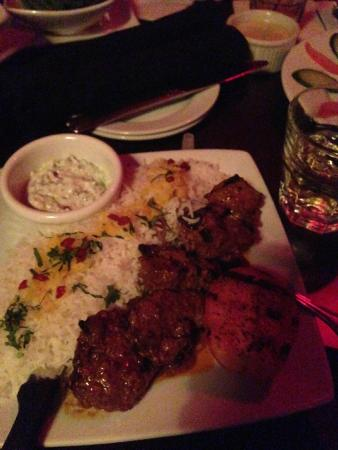 Lamb kebabs with rice picture of divan restaurant for Divan persian cuisine
