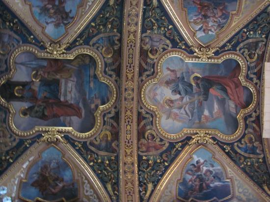 Église collégiale du naufrage de saint Paul : Ceiling at St., Paul's Shipwreck