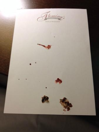 Fleming's Hotel München-Schwabing: Smashed bugs in the room