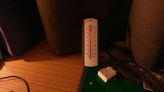 Campanile Villejuif : 17 degrés sur le bureau !!