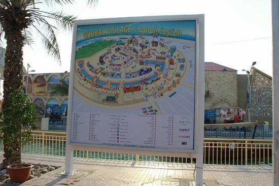 Map of GV - Bild von Global Village, Dubai - TripAdvisor Dubai Global Map on