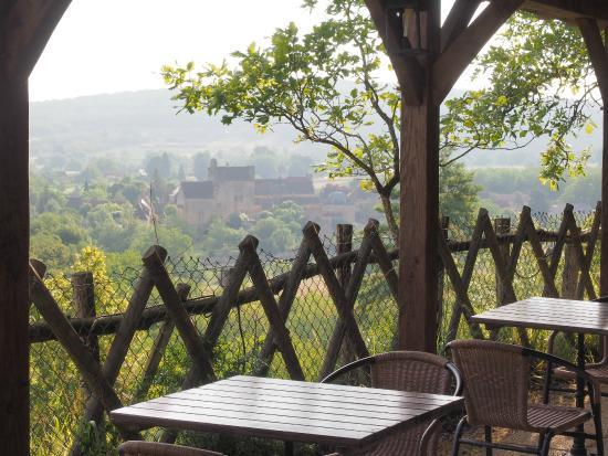 Auberge de Castel Merle : View of Sergeac from garden
