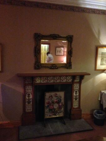 Callow Hall Hotel : Fireplace in our room