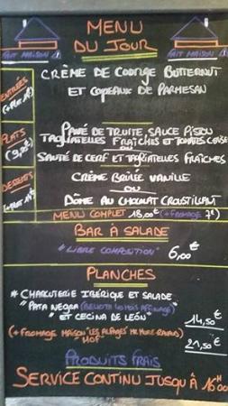 idée menu du jour Une idée du menu du jour   Photo de L'iridescence, Grenoble  idée menu du jour
