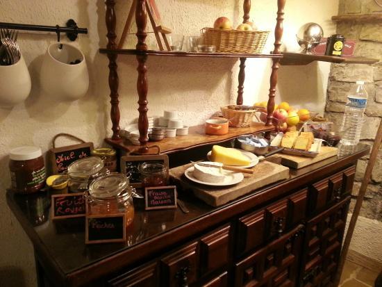 Hotel du Pont Vieux: Desayuno Buffet