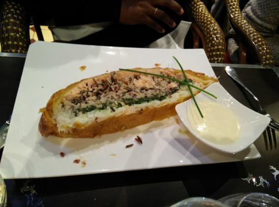 L'aloyau: Duo poissons cabillaud  saumon riz 3 saveurs