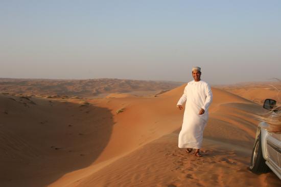 Desert Retreat Camp: Hamed at Sunset Above the Camp