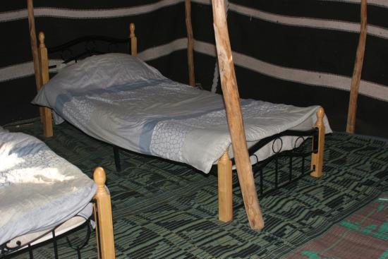 Desert Retreat Camp: inside tent - beds