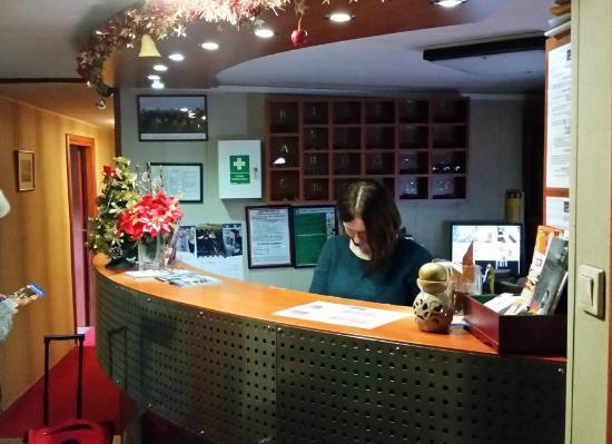 Marta Hotelik na Wodzie: reception desk