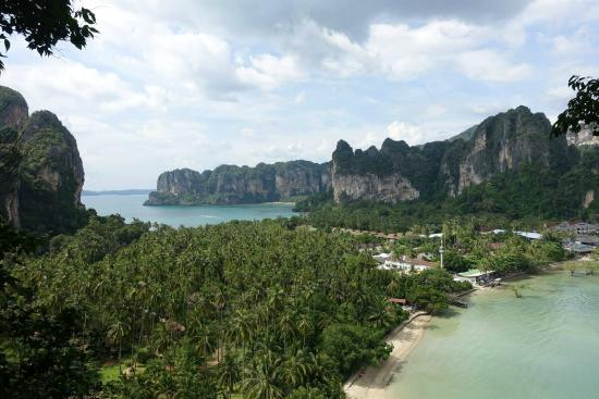Railay Beach, Tayland: vue du viewpoint