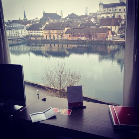 H4 Hotel Solothurn: My poem and the view of my room