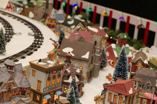 miniature world of trains christmas display
