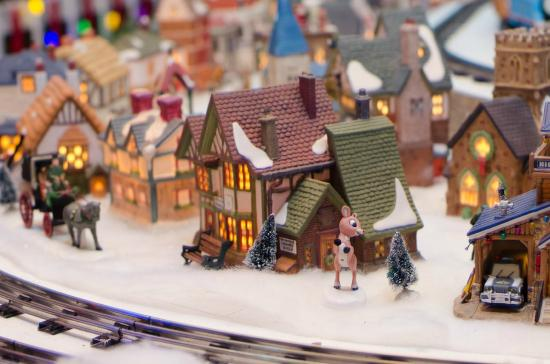miniature world of trains christmas village