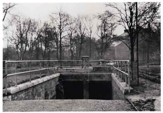 Victoria Tunnel: WW2 entrance in St Thomas' Church