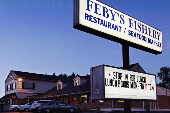 Feby's Fishery: Front view of Feby's