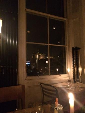 The Outsider Restaurant: View of the castle