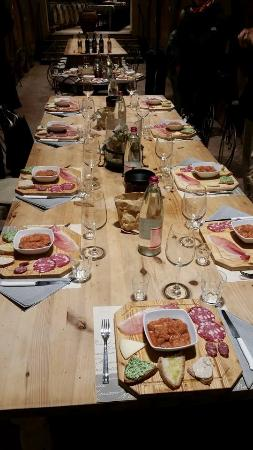 City Wonders: Our lunch set up in the barrel room